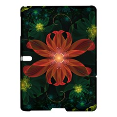 Beautiful Red Passion Flower In A Fractal Jungle Samsung Galaxy Tab S (10 5 ) Hardshell Case  by jayaprime
