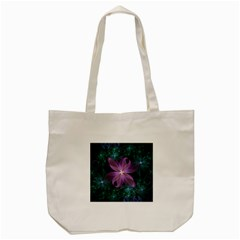 Pink And Turquoise Wedding Cremon Fractal Flowers Tote Bag (cream) by jayaprime