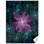 Pink and Turquoise Wedding Cremon Fractal Flowers Canvas 36  x 48   48 x36 Canvas - 1