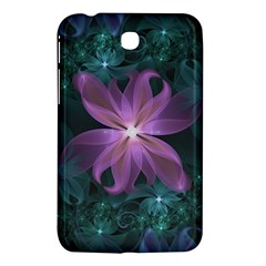 Pink And Turquoise Wedding Cremon Fractal Flowers Samsung Galaxy Tab 3 (7 ) P3200 Hardshell Case  by jayaprime