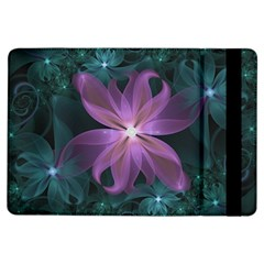 Pink And Turquoise Wedding Cremon Fractal Flowers Ipad Air Flip by jayaprime
