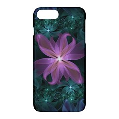 Pink And Turquoise Wedding Cremon Fractal Flowers Apple Iphone 7 Plus Hardshell Case by jayaprime