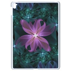 Pink And Turquoise Wedding Cremon Fractal Flowers Apple Ipad Pro 9 7   White Seamless Case by jayaprime