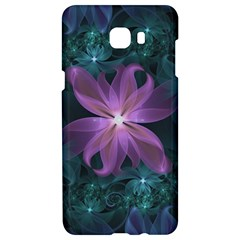 Pink And Turquoise Wedding Cremon Fractal Flowers Samsung C9 Pro Hardshell Case  by jayaprime