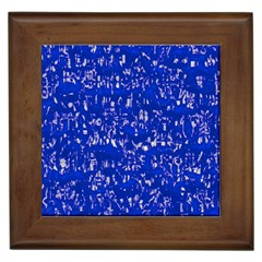 Glossy Abstract Blue Framed Tiles by MoreColorsinLife