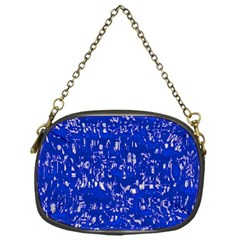 Glossy Abstract Blue Chain Purses (one Side)  by MoreColorsinLife