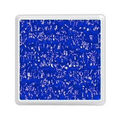 Glossy Abstract Blue Memory Card Reader (square)  by MoreColorsinLife