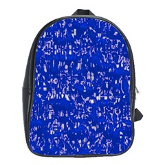 Glossy Abstract Blue School Bags (xl)  by MoreColorsinLife