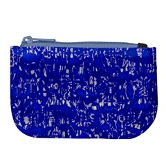 Glossy Abstract Blue Large Coin Purse
