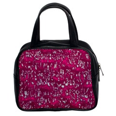 Glossy Abstract Pink Classic Handbags (2 Sides) by MoreColorsinLife