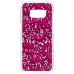 Glossy Abstract Pink Samsung Galaxy S8 White Seamless Case by MoreColorsinLife