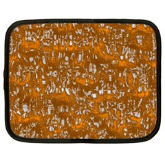 Glossy Abstract Orange Netbook Case (xl)  by MoreColorsinLife