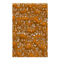Glossy Abstract Orange Shower Curtain 48  X 72  (small)  by MoreColorsinLife