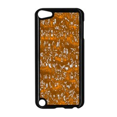 Glossy Abstract Orange Apple Ipod Touch 5 Case (black) by MoreColorsinLife