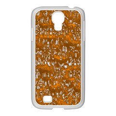 Glossy Abstract Orange Samsung Galaxy S4 I9500/ I9505 Case (white) by MoreColorsinLife