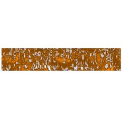 Glossy Abstract Orange Flano Scarf (large) by MoreColorsinLife