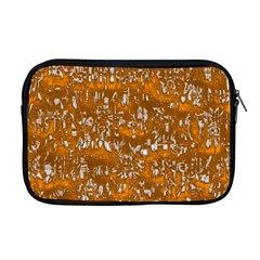 Glossy Abstract Orange Apple Macbook Pro 17  Zipper Case by MoreColorsinLife
