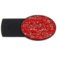 Glossy Abstract Red Usb Flash Drive Oval (2 Gb) by MoreColorsinLife