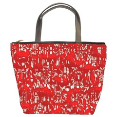 Glossy Abstract Red Bucket Bags by MoreColorsinLife
