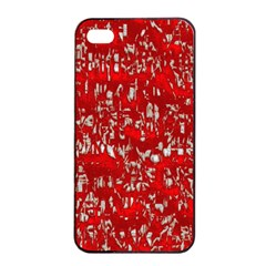 Glossy Abstract Red Apple Iphone 4/4s Seamless Case (black) by MoreColorsinLife