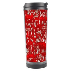 Glossy Abstract Red Travel Tumbler by MoreColorsinLife