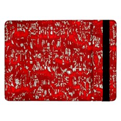 Glossy Abstract Red Samsung Galaxy Tab Pro 12 2  Flip Case by MoreColorsinLife
