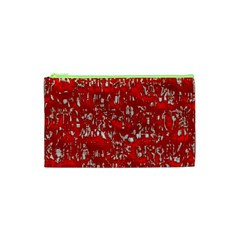 Glossy Abstract Red Cosmetic Bag (xs)