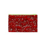Glossy Abstract Red Cosmetic Bag (XS) Back