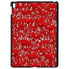 Glossy Abstract Red Apple Ipad Pro 9 7   Black Seamless Case