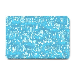 Glossy Abstract Ocean Small Doormat  by MoreColorsinLife