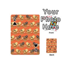Birds Pattern Playing Cards 54 (mini)  by linceazul