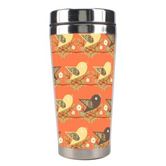 Birds Pattern Stainless Steel Travel Tumblers by linceazul