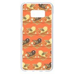 Birds Pattern Samsung Galaxy S8 Plus White Seamless Case by linceazul