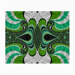 Fractal Art Green Pattern Design Small Glasses Cloth by BangZart
