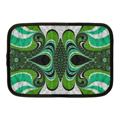 Fractal Art Green Pattern Design Netbook Case (medium)  by BangZart