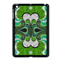 Fractal Art Green Pattern Design Apple Ipad Mini Case (black) by BangZart