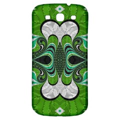 Fractal Art Green Pattern Design Samsung Galaxy S3 S Iii Classic Hardshell Back Case by BangZart