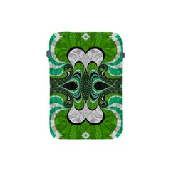 Fractal Art Green Pattern Design Apple Ipad Mini Protective Soft Cases by BangZart