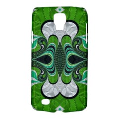 Fractal Art Green Pattern Design Galaxy S4 Active by BangZart