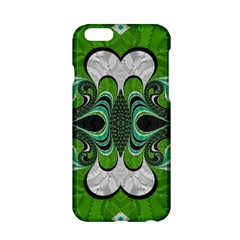 Fractal Art Green Pattern Design Apple Iphone 6/6s Hardshell Case by BangZart
