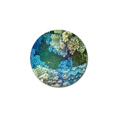 Fractal Formula Abstract Backdrop Golf Ball Marker (4 Pack) by BangZart