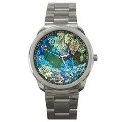 Fractal Formula Abstract Backdrop Sport Metal Watch by BangZart