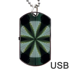 Lines Abstract Background Dog Tag Usb Flash (two Sides) by BangZart