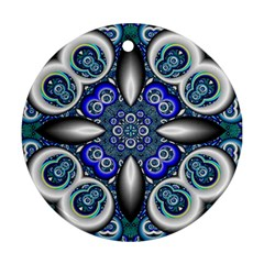 Fractal Cathedral Pattern Mosaic Ornament (round) by BangZart