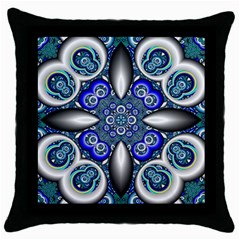 Fractal Cathedral Pattern Mosaic Throw Pillow Case (black) by BangZart
