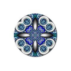 Fractal Cathedral Pattern Mosaic Magnet 3  (round) by BangZart