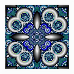 Fractal Cathedral Pattern Mosaic Medium Glasses Cloth (2 Side) by BangZart