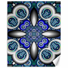 Fractal Cathedral Pattern Mosaic Canvas 11  X 14   by BangZart