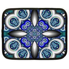 Fractal Cathedral Pattern Mosaic Netbook Case (large) by BangZart