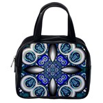 Fractal Cathedral Pattern Mosaic Classic Handbags (2 Sides) Back